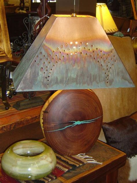 mesquite l with turquoise inlay mesquite l with turquoise inlay and copper l shade