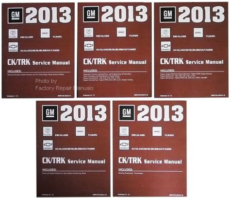 small engine service manuals 2013 chevrolet tahoe security system 2013 chevy tahoe suburban avalanche gmc yukon denali cadillac escalade shop service manual