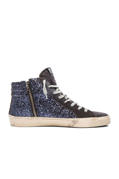sparkle sneakers lyst golden goose deluxe brand s slide glitter