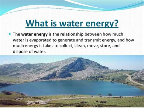 what does water power point of water energy