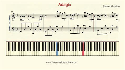 secret piano tutorial how to play piano secret garden quot adagio quot piano tutorial