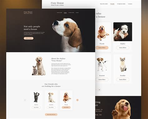 Animal Shelter Website Template Psd Download Download Psd Adoption Portfolio Templates