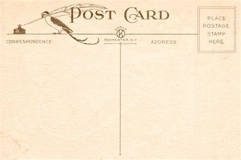 vintage postcard template download www imgkid com the