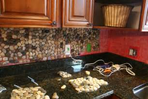 rock tile backsplash garden kitchen backsplash tutorial how to