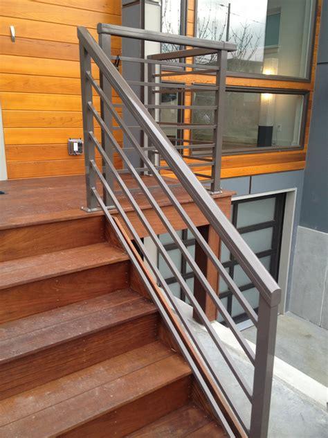 horizontal metal railing horizontal stair railings metal stair railing outdoor