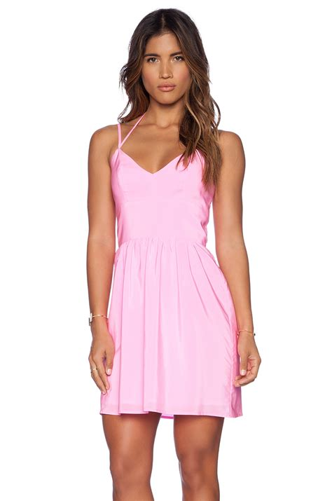 dress amanda lyst amanda uprichard whenever dress in pink