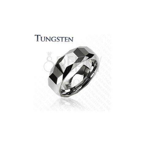 Ring Hochglanz Polieren by Wolframring Mit Geometrischem Muster Auf Hochglanz