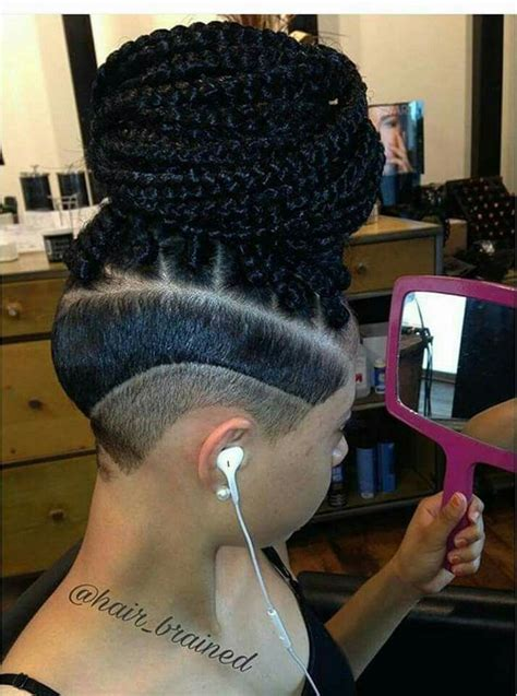 micro braids with shaved sides pin by t spillz on hair dos pinterest hair style