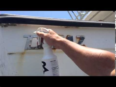 boat rust cleaner rust remover removes barnacle from motor boat marine life