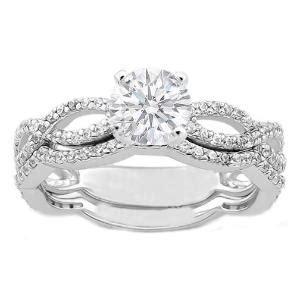 infinity symbol band engagement ring