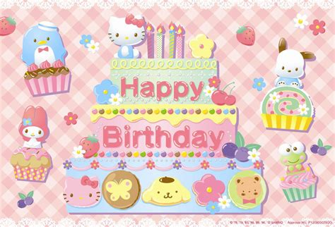 hello kitty cake wallpaper hello kitty birthday wallpaper wallpapersafari