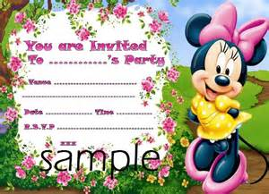 minnie mouse birthday invitations templates 28 minnie mouse invitation template free sle