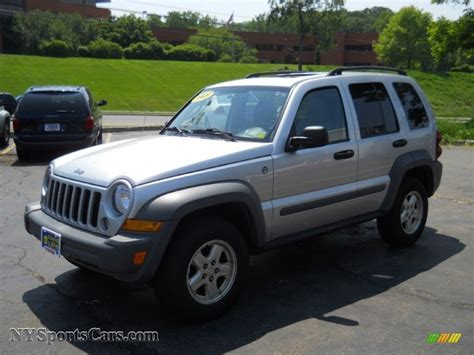 silver jeep liberty 2005 jeep liberty sport 4x4 in bright silver metallic
