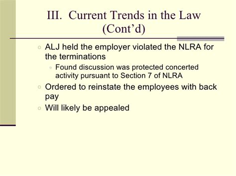 nlra section 7 protected activity social media employment hr implications