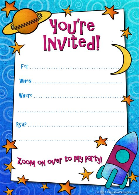 printable children s invitation cards free printable boys birthday party invitations boy
