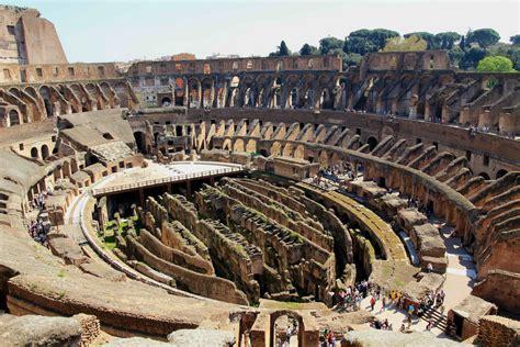 colosseo interno interno colosseo dal terzo anello roma con vista
