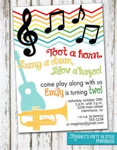 musical instruments invitation