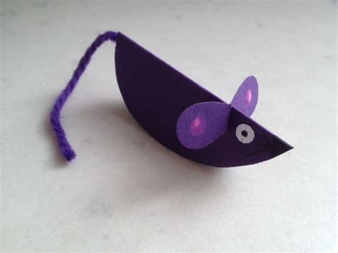 mouse craft paper mouse mouse craft mouse craft tutorial mice craft