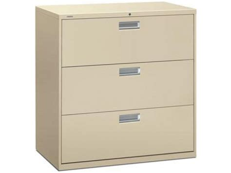 600 Series 3 Drawer Lateral File Cabinet Hon 693 Metal Hon 600 Series Lateral File Cabinet