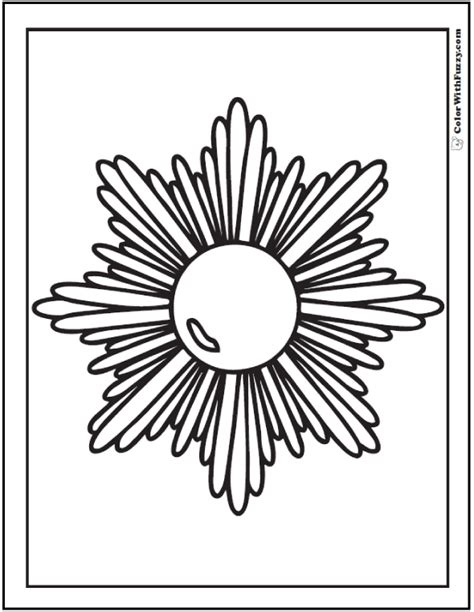 sun rays coloring page 70 geometric coloring pages to print and customize