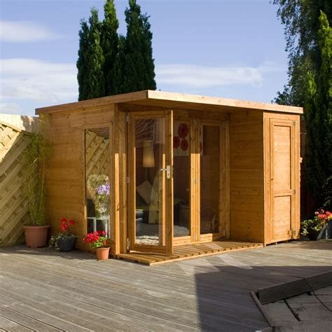 side sheds on house 10 x 8 waltons contemporary summerhouse with side shed rh