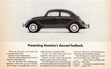 volkswagen think small what can we learn from vw s 1959 think small caign