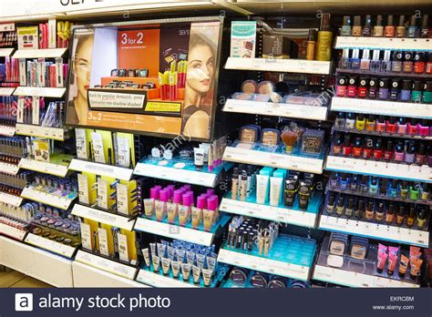 boots cosmetics make up and nail varnish counter at boots birmingham