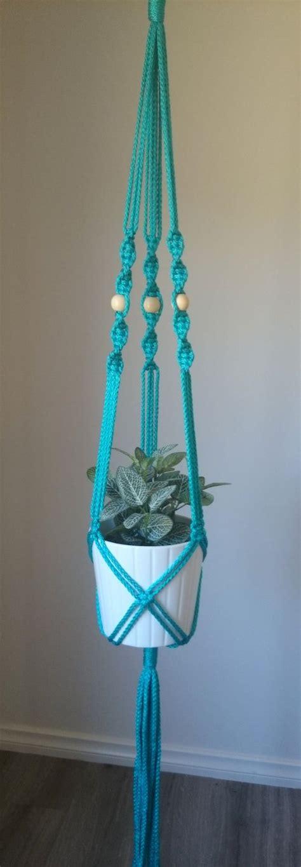 Macrame Pot Hanger - macrame pot plant hanger elwood by thecolouredknot on etsy