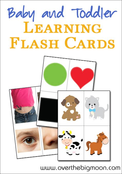 printable toddler learning flash cards baby and toddler learning flash cards body parts colors