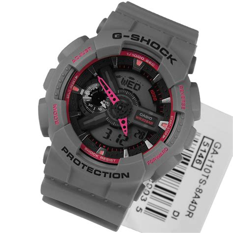 Casio G Shock Grey casio g shock mens neon colours grey pink ga 110ts