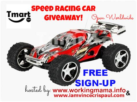 Online Car Giveaways - geshery online blogger sign up speed racing car giveaway