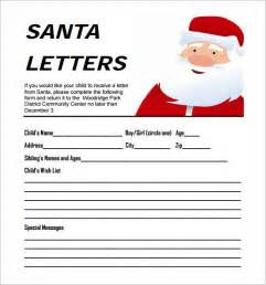 Letter From Santa Word Template Free by Santa Letter Template 7 Free Documents In Pdf