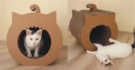 cardboard house for cats cardboard diy cat house google search creating with cardboards pinterest