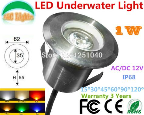 factory direct led lights factory direct sales 1w outdoor underwater led light 12v