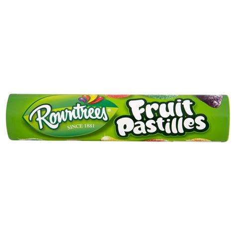 rowntrees fruit pastilles giant tube 125g sharing bags