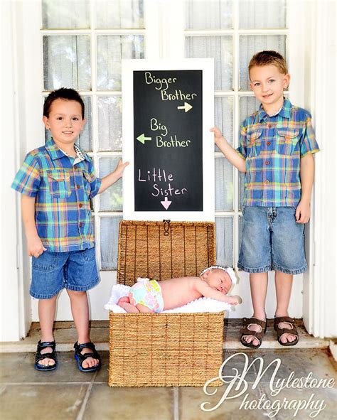 Sis New brothers with baby photo by myle collins mylestone photography newborn portrait newborn