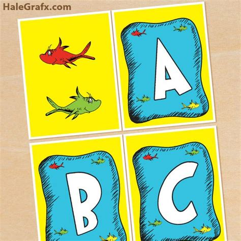 printable abc banner dr seuss fish banner free printable dr seuss fish