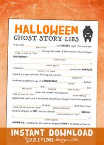 halloween mad lib printable ghost story game for kids amp adults