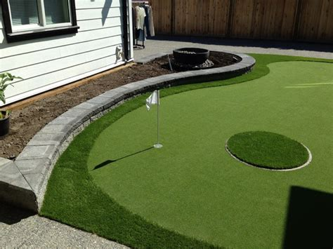 backyard putting green modern landscape vancouver