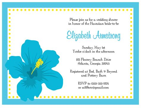 Hawaiian Theme Wedding Invitation To Email by The Sweet Paperie Hawaiian Hibiscus Invitation