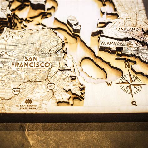 san francisco woodworking class san francisco ca 3d wood map on tahoe time