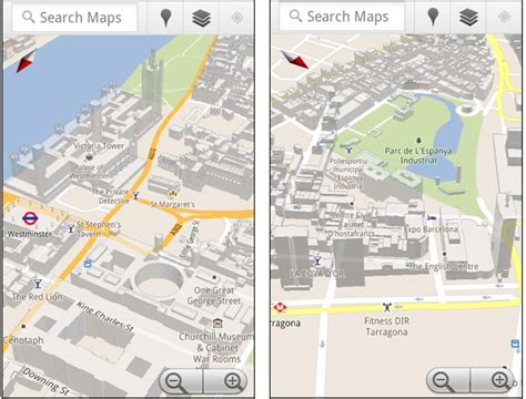 maps view android maps for android has more 3d buildings ubergizmo