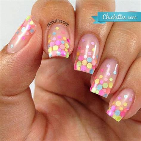 stylish polka dots nail art designs