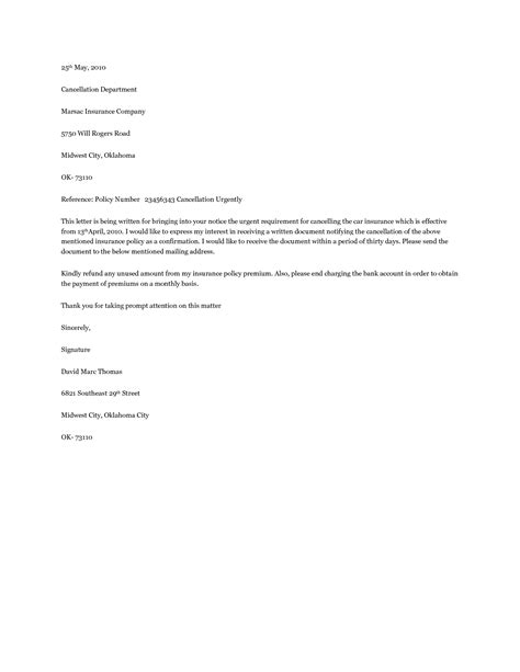 Hazard Insurance Letters homeowners insurance cancellation