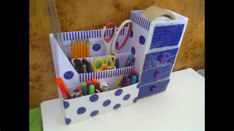 How To Make Desk Organizers by How To Make Desk Top Organizer