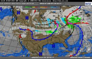us map by weather surface maps mountain weather