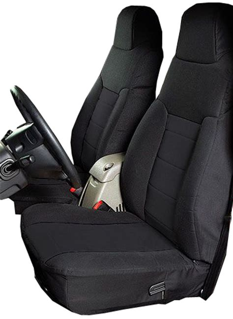 rugged ridge jeep seat covers all things jeep neoprene front seat covers by rugged ridge for jeep wrangler tj 2003 2006
