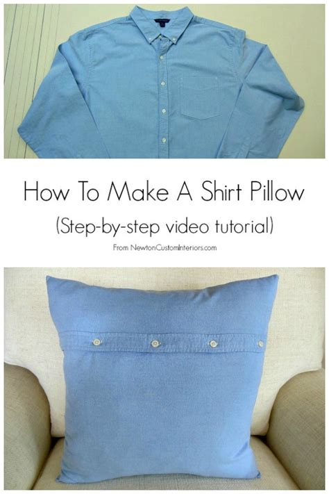 How To Make A Picture Pillow how to make a shirt pillow newton custom interiors