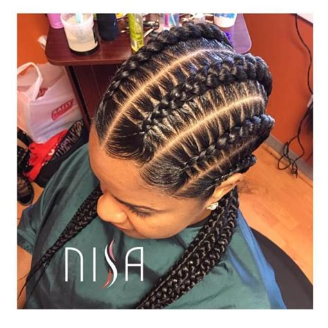 unique two big braids hairstyles with weave big box braids the 25 best big cornrows ideas on pinterest