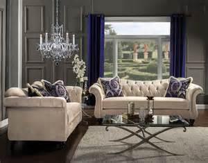 2 antoinette light mocha tufted sofa set made in usa